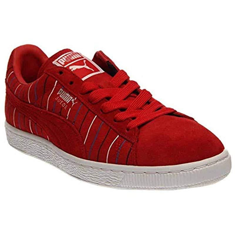 33e63a3c3c2 Lyst - Puma Suede Striped in Red for Men - Save 41.46341463414634%