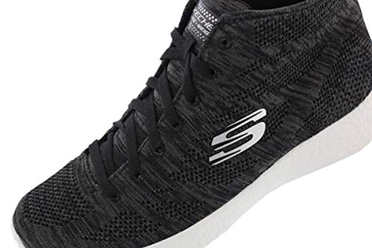 Skechers Sport Burst Divergent Demi Boot Sneaker in Black