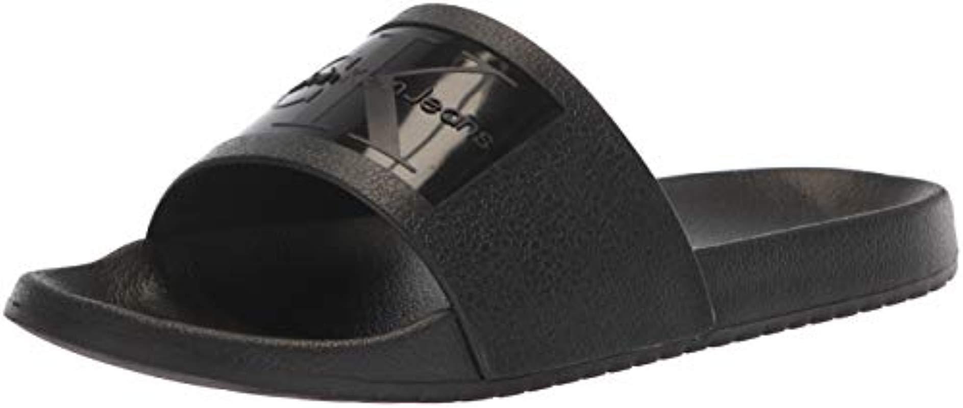 e37ed9a38bc78 Calvin Klein Vincenzo Jelly Slide Sandal in Black for Men - Lyst