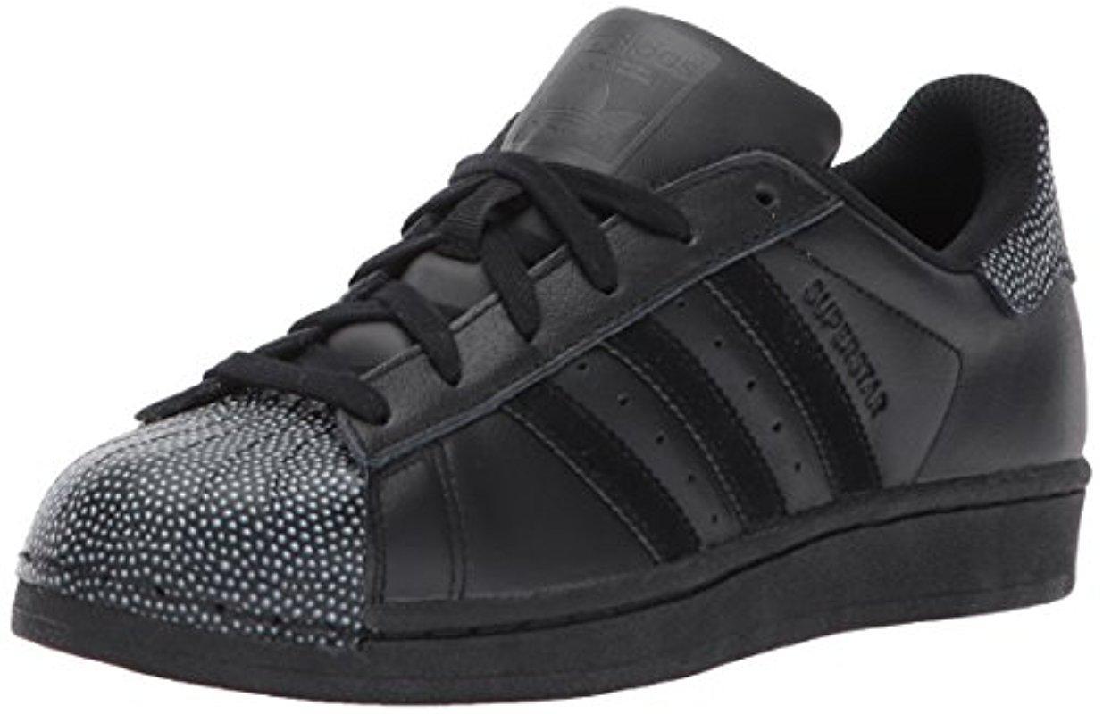 adidas Originals Leather Superstar Ray Black J for Men - Lyst