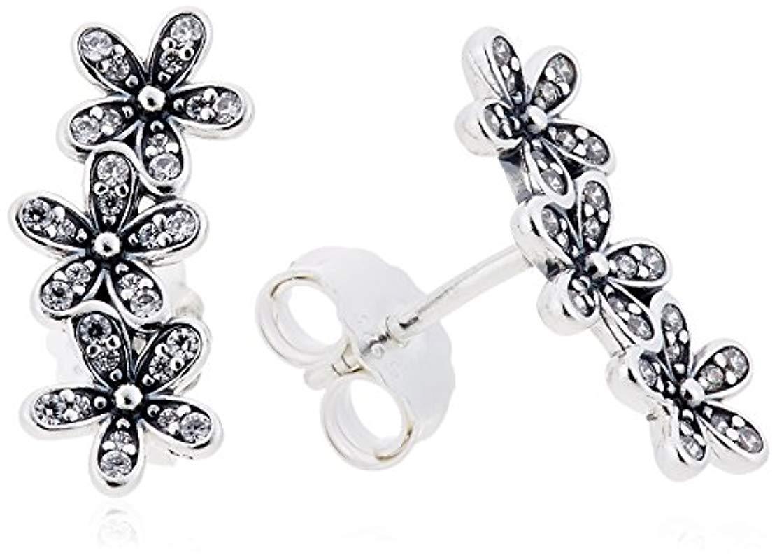 937c25a32f38 Pendientes de botón Mujer plata Pandora de color Metallic