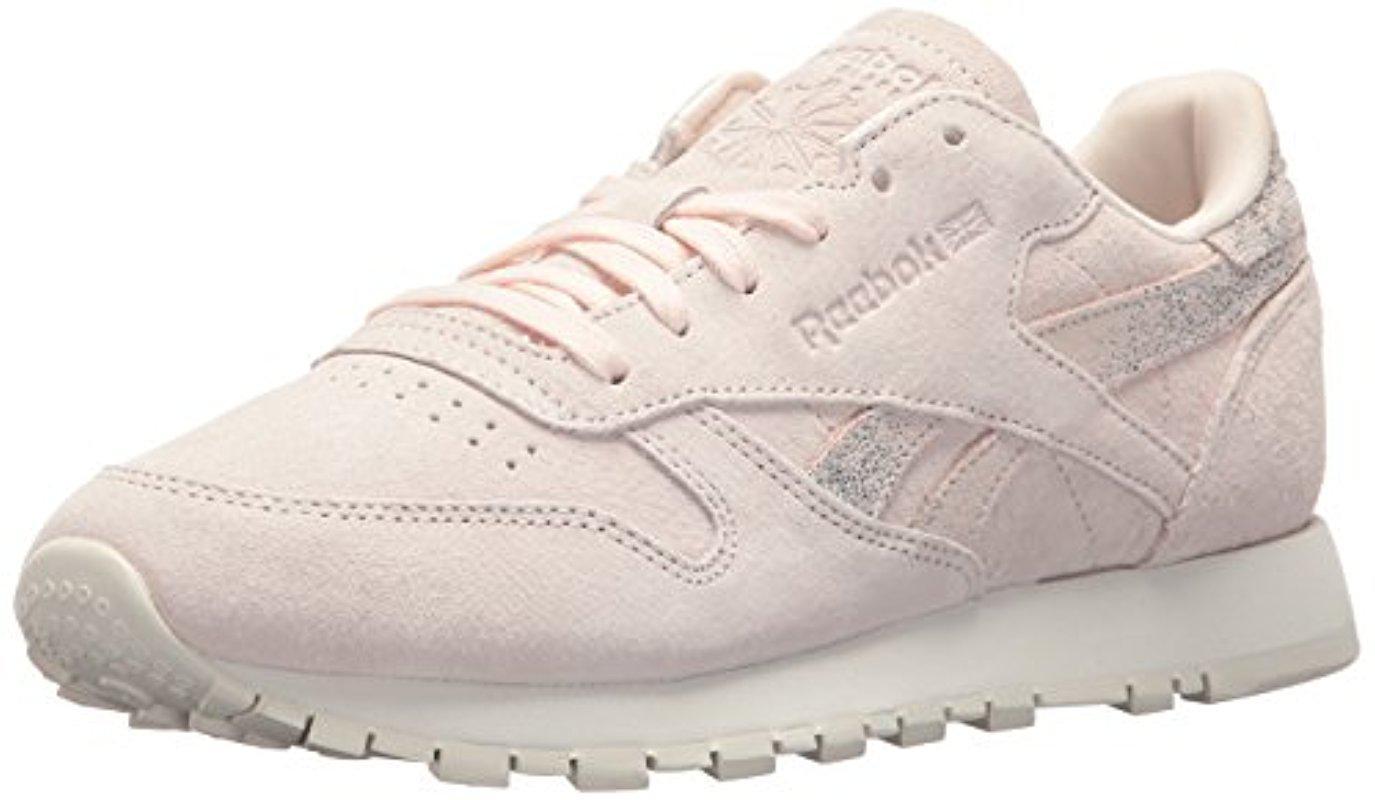 Reebok Leather Cl Lthr Shimmer Sneaker