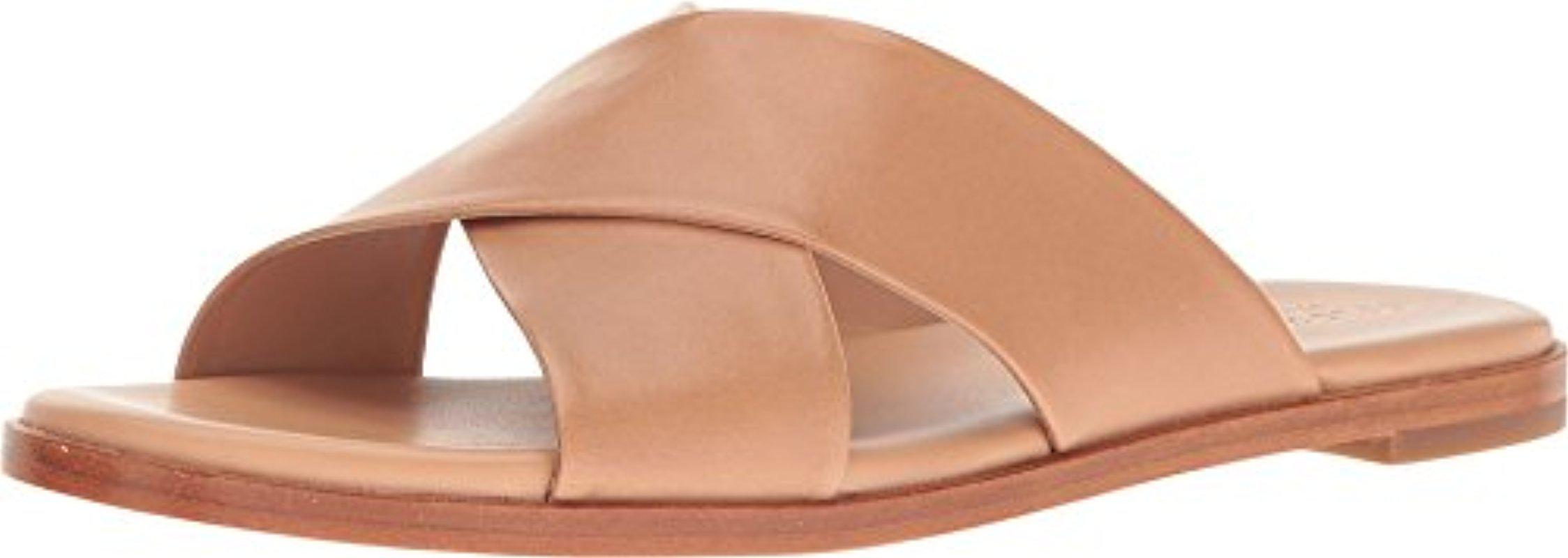 eab7bfba906 Lyst - Cole Haan Anica Criss Cross Sandal Slide in Natural