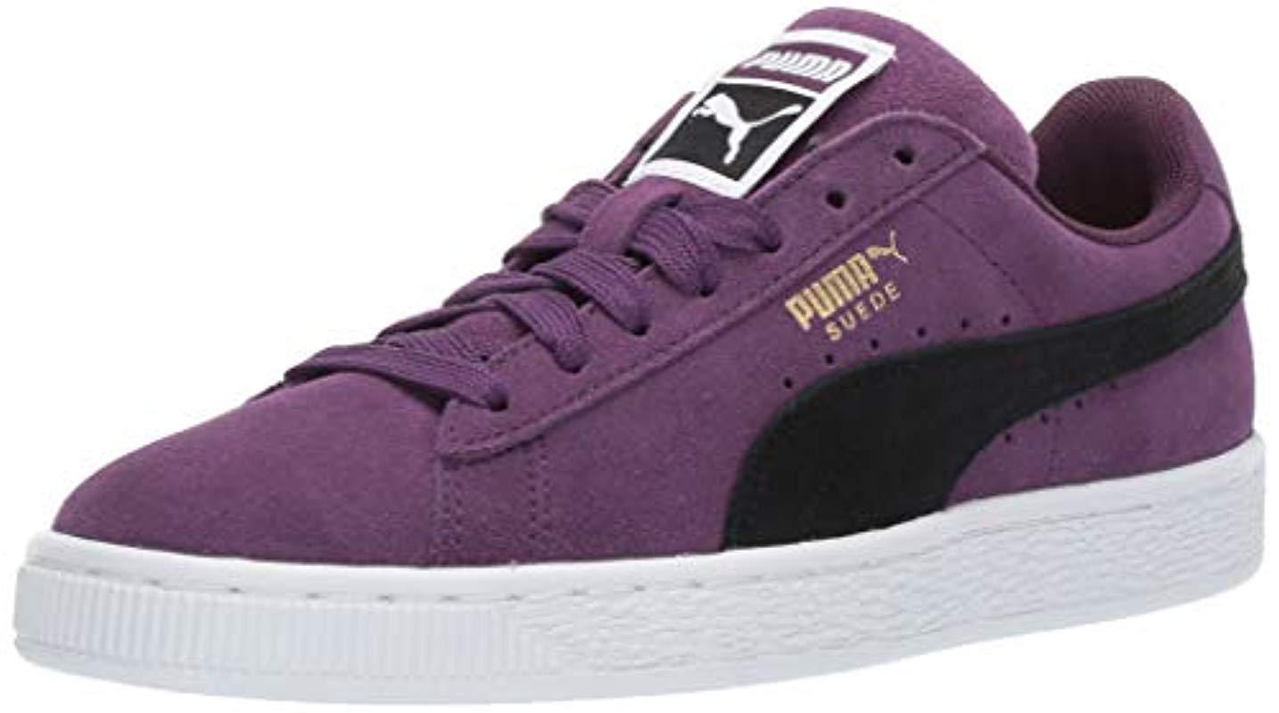 PUMA Suede Classic Sneaker in Purple - Lyst