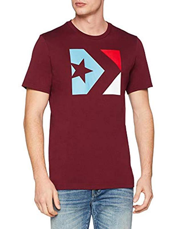 8ade27982b5f Converse Star Chevron Box Tee Short Sleeve T-shirt in Red for Men - Lyst