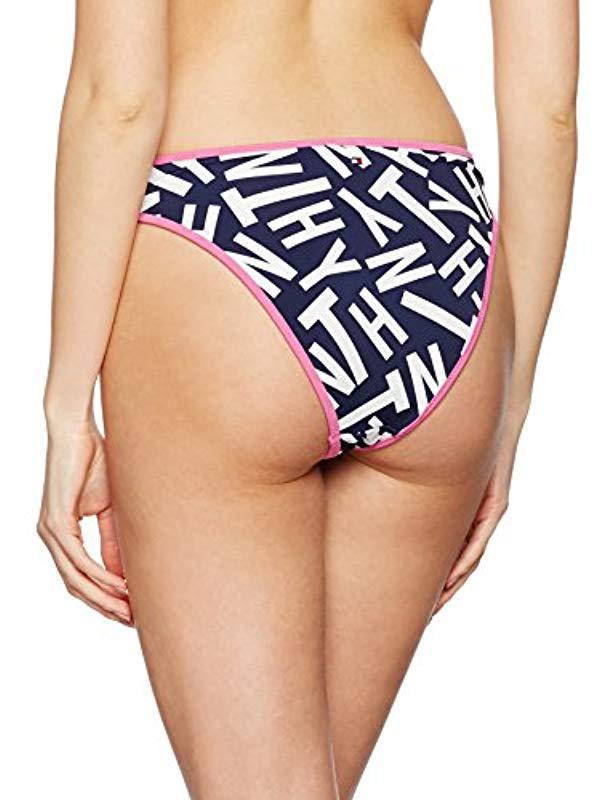 Tommy Hilfiger Haeli High Cut Brief Bikini Bottoms in Blue - Lyst e1f8cdf68c00