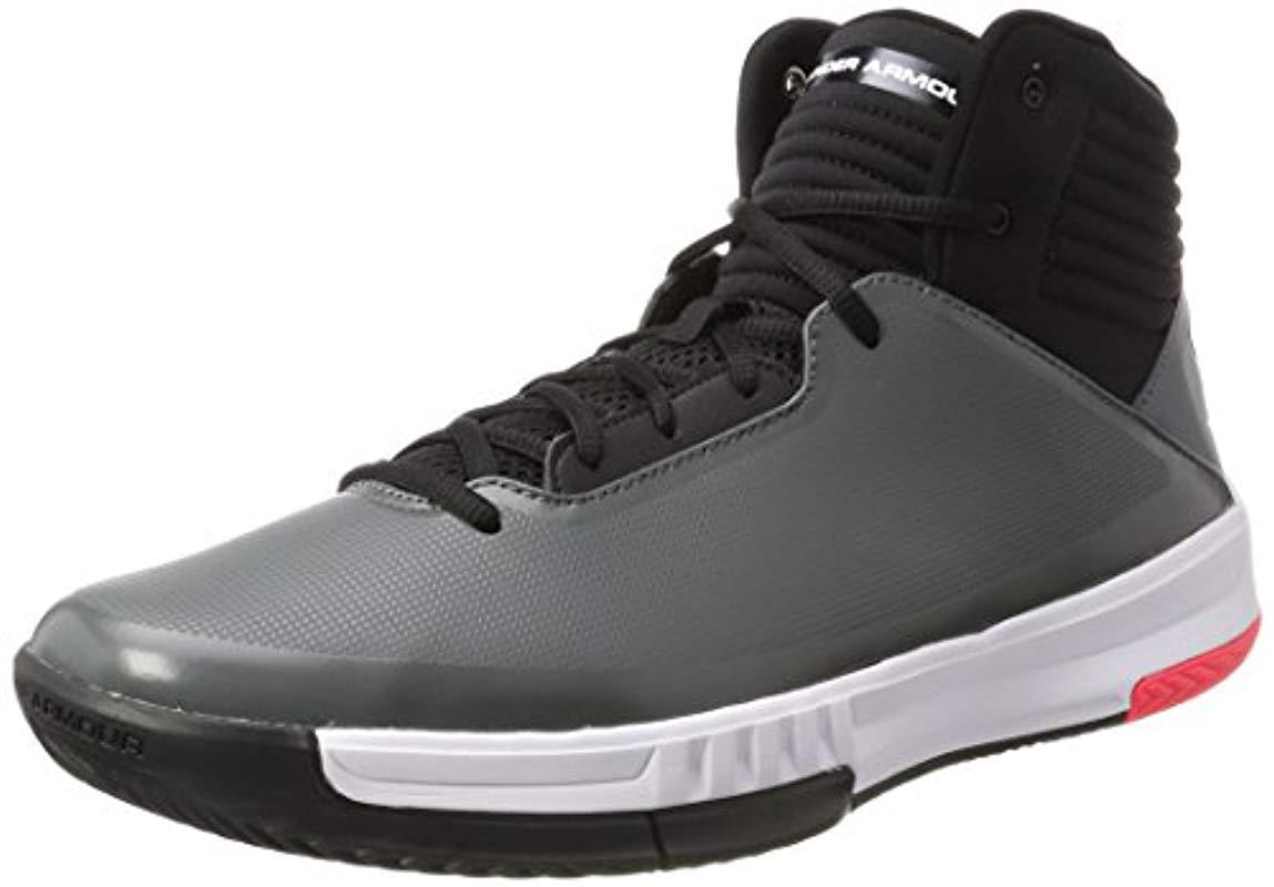 f847ca54158f Under Armour Ua Lockdown 2 Basketball Shoes in Gray for Men - Lyst