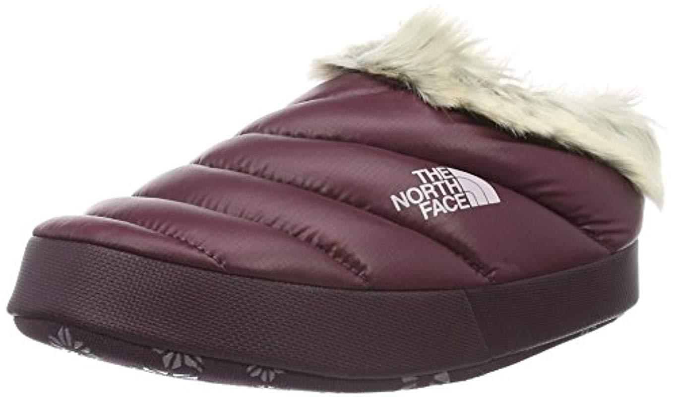 2d260a67f The North Face 's W Nse Tent Mule Faux Fur Ii Clogs, Shiny Deep ...