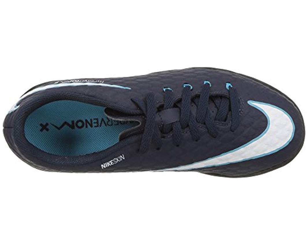 e06db6995f8c4 Nike Blue Youth Hypervenomx Phelon Iii Turf Shoes [obsidian] (2.5y) for men