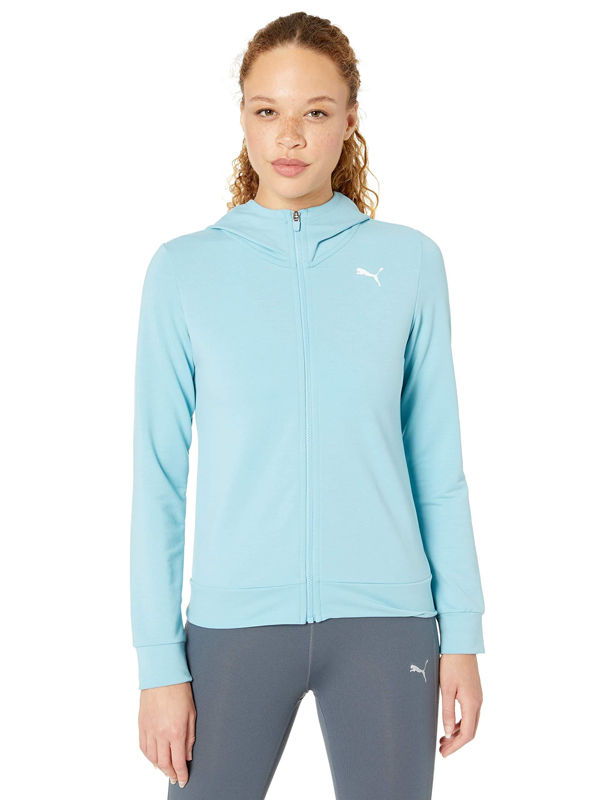 PUMA Womens Soft Sports Drapey Full Zip Hoody Hooded Sweatshirt
