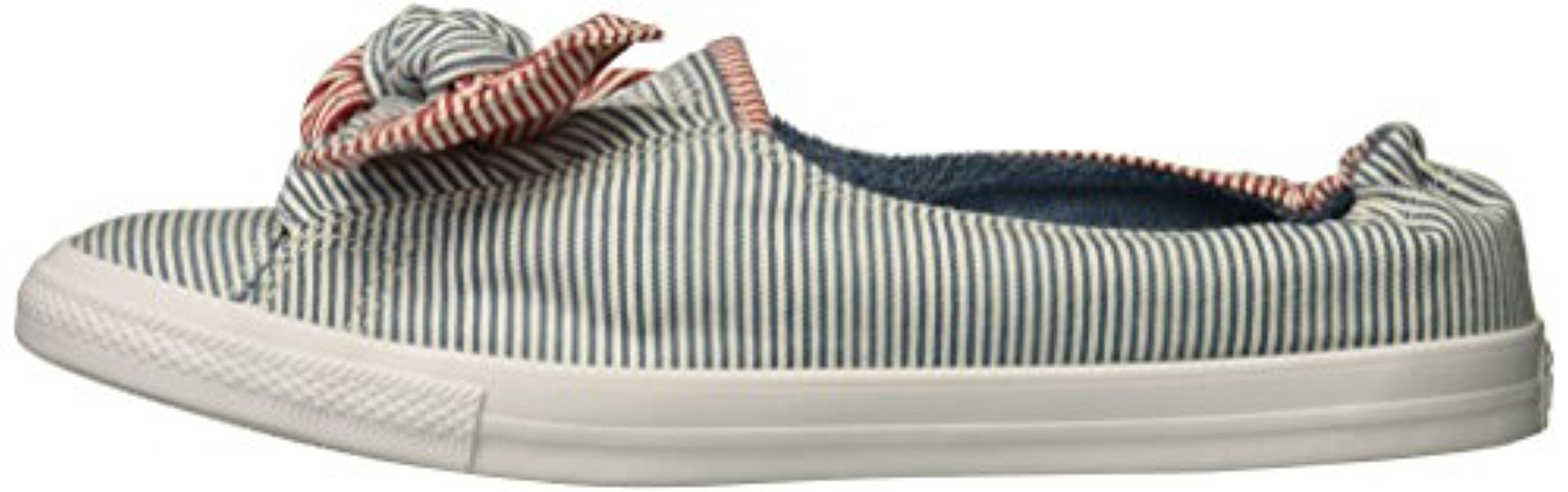 Converse Knot Striped Chambray Slip On