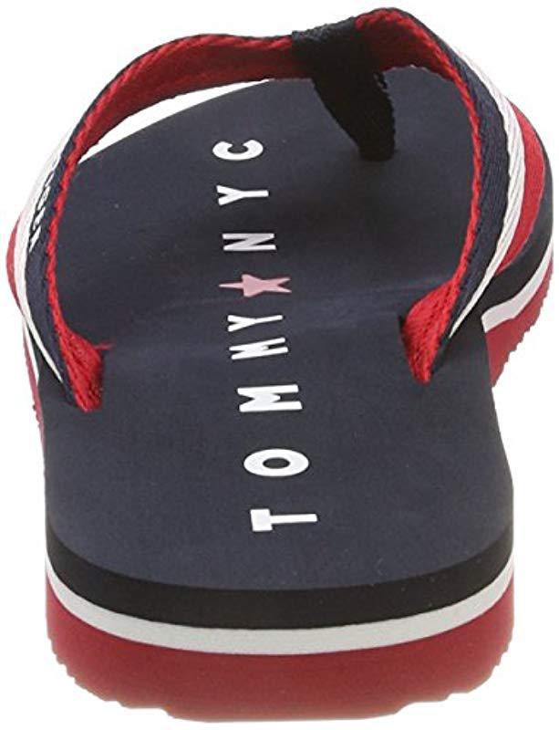 12d887147 Tommy Hilfiger Tommy Loves Ny Beach Sandal Flip Flops in Blue - Lyst