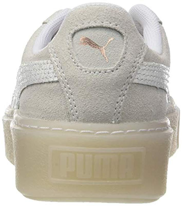 PUMA - White Suede Platform Artica Wn s Low-top Sneakers - Lyst. View  fullscreen 23b50606564