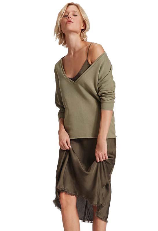 03538aabb4c9 Nation Ltd Sofia Slip Dress In Sergeant - Lyst