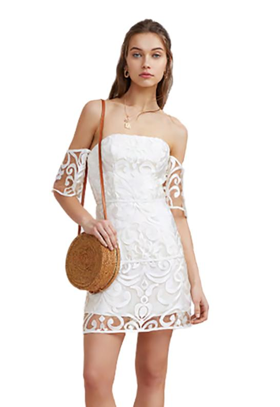 fa4532f8cecf Finders Keepers Alchemy Strapless Dress In Ivory in White - Lyst