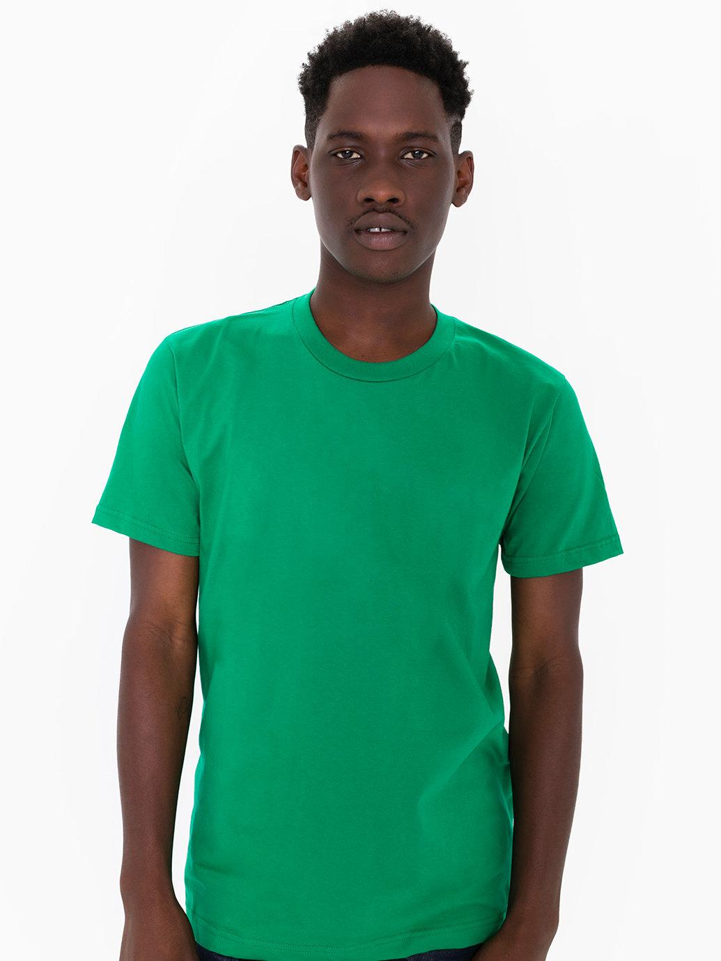 American apparel fine jersey crewneck t shirt in green for for American apparel fine jersey crewneck t shirt