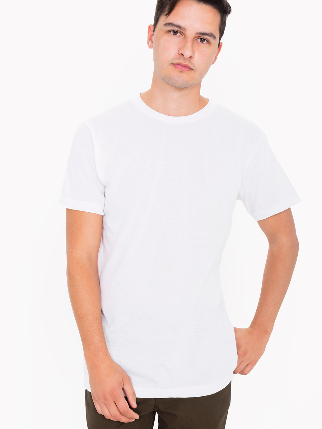 American apparel fine jersey crewneck pocket t shirt in for American apparel fine jersey crewneck t shirt