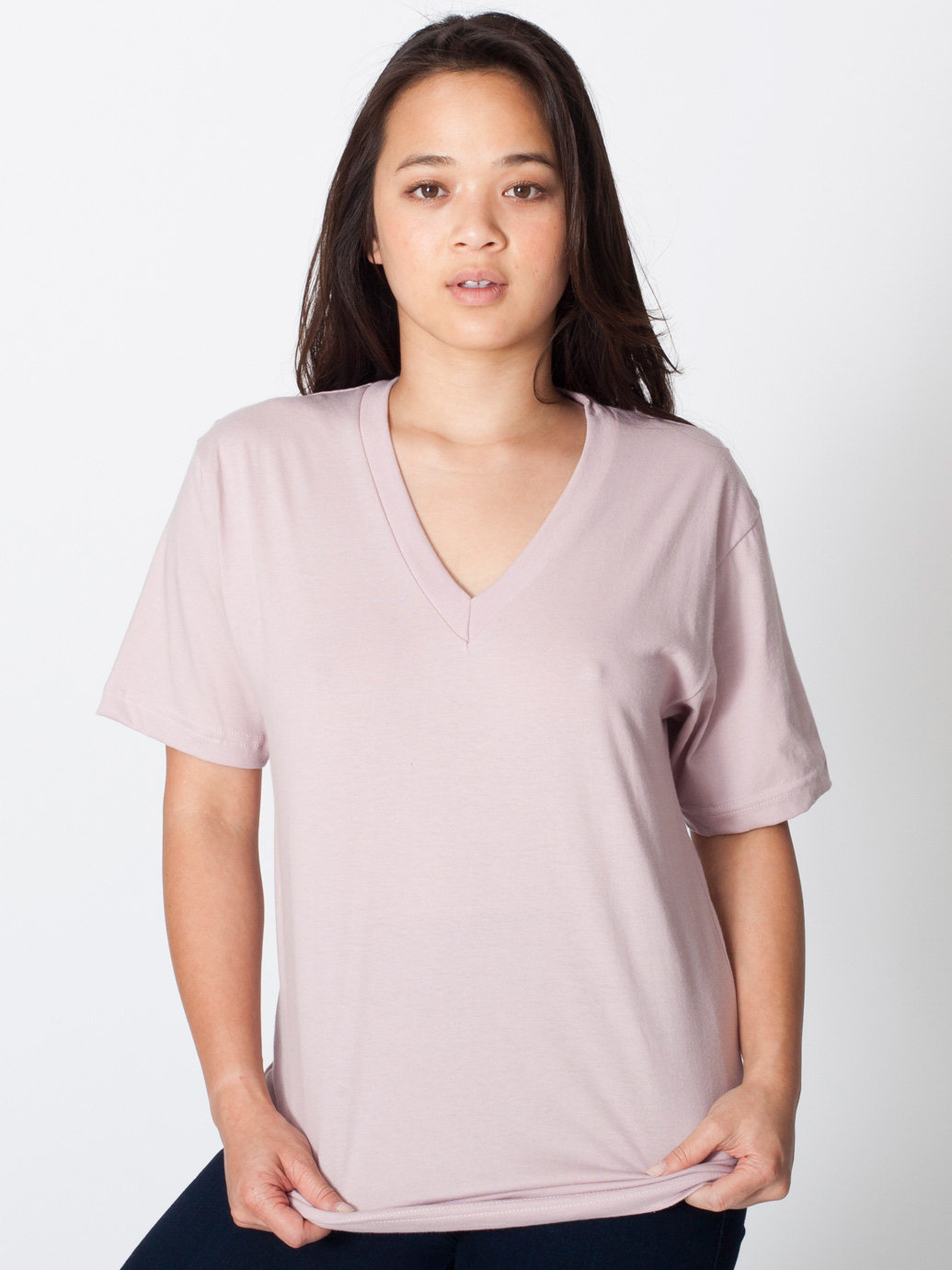 American apparel unisex fine jersey v neck t shirt in for American apparel men s fine jersey short sleeve tall t shirt