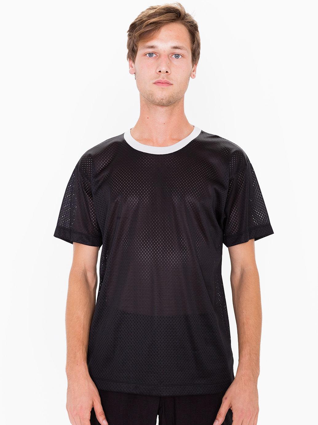 American apparel poly mesh athletic tee in multicolor for for American apparel mesh shirt