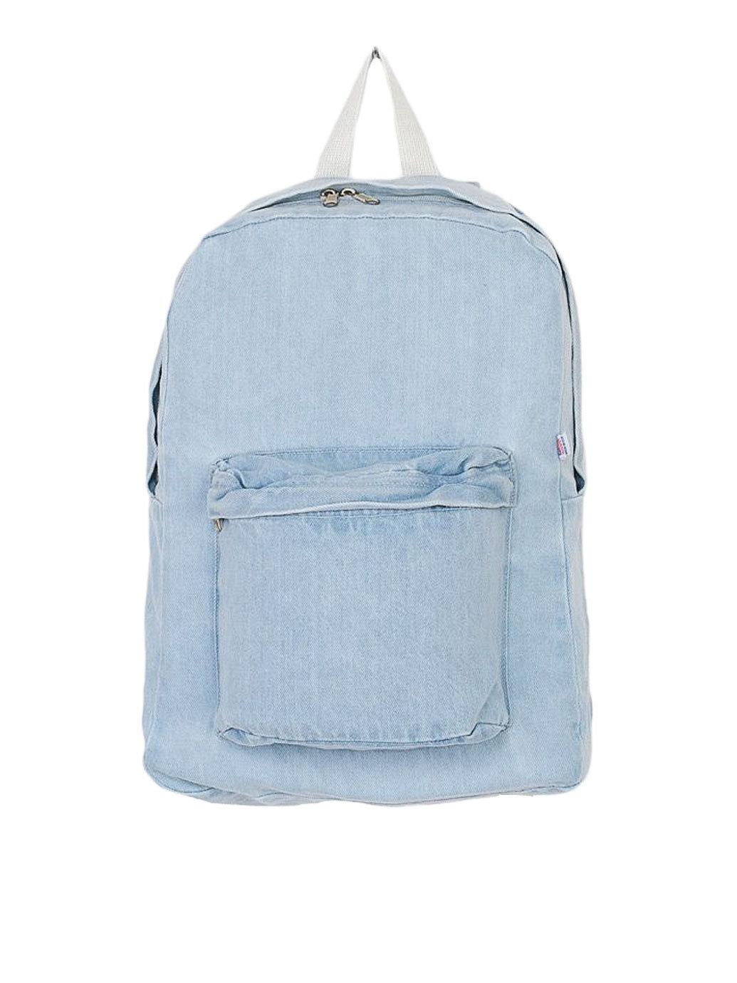 American apparel Denim School Bag in Metallic   Lyst