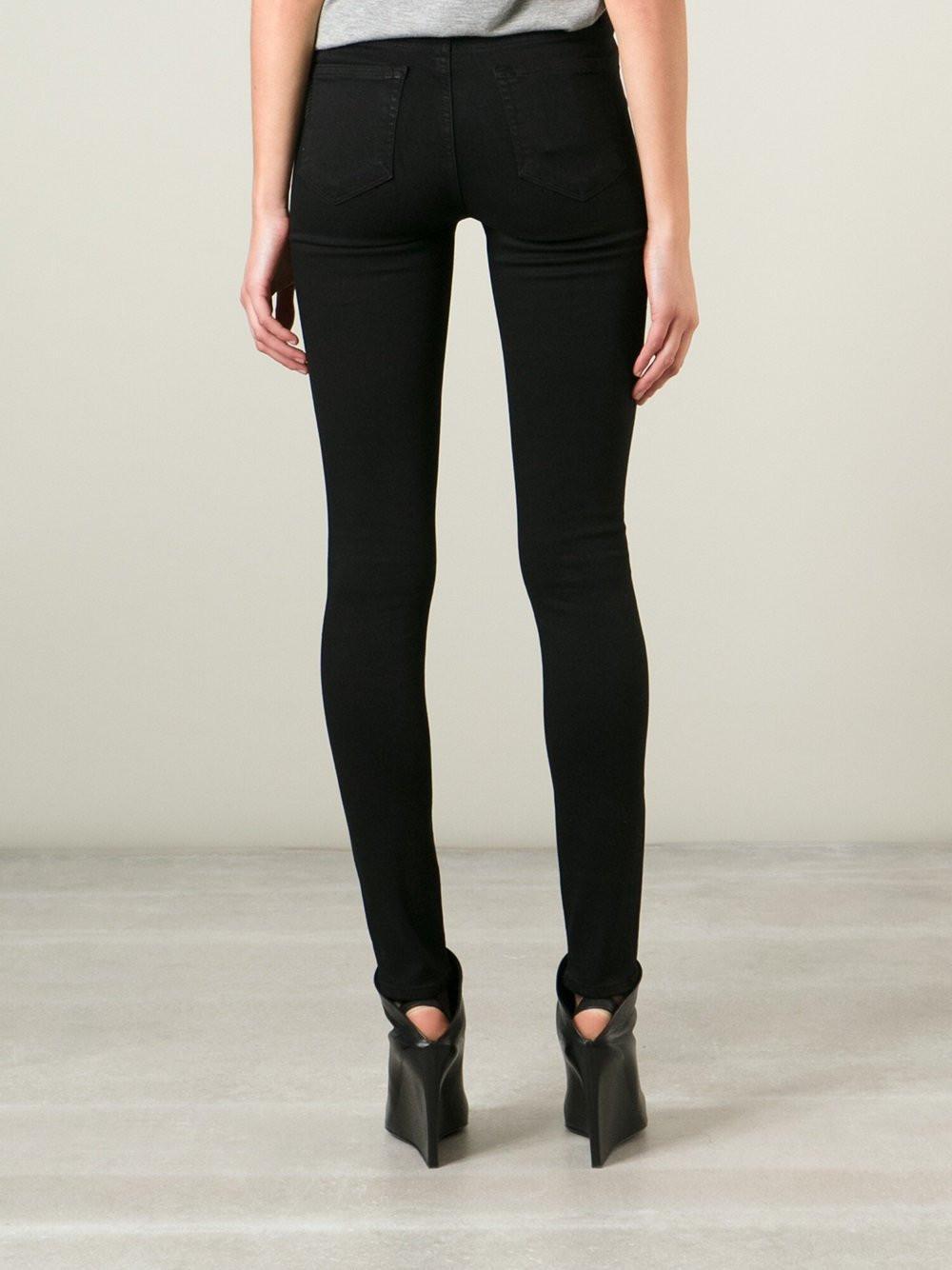 Paige Denim Hoxton Ultra Skinny Jeans In Black Lyst