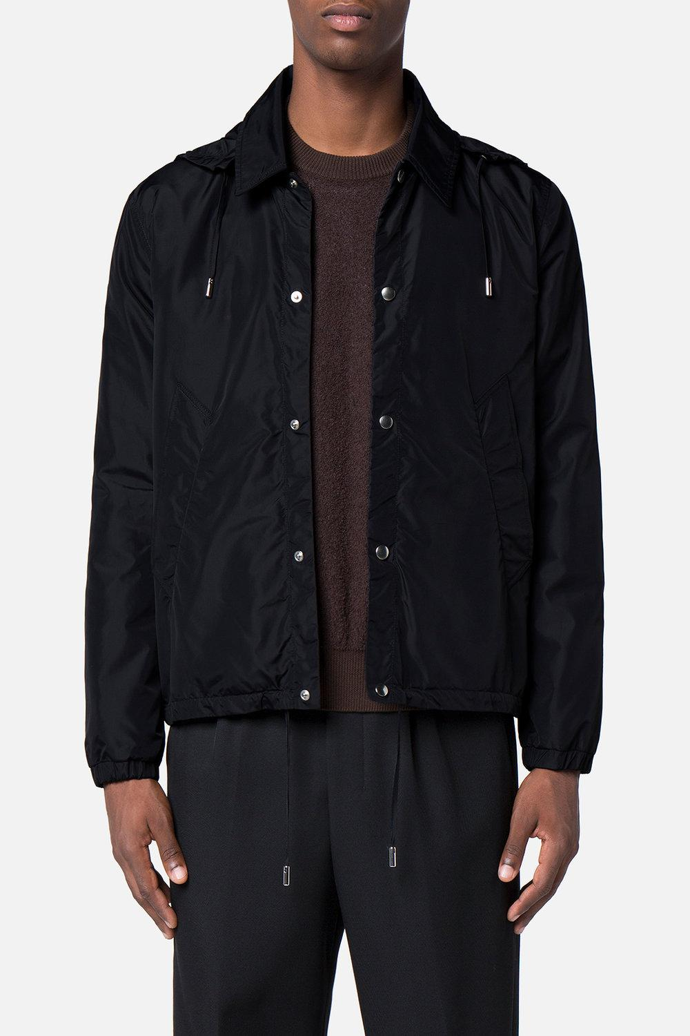 AMI Synthetic Hooded Jacket in Black for Men