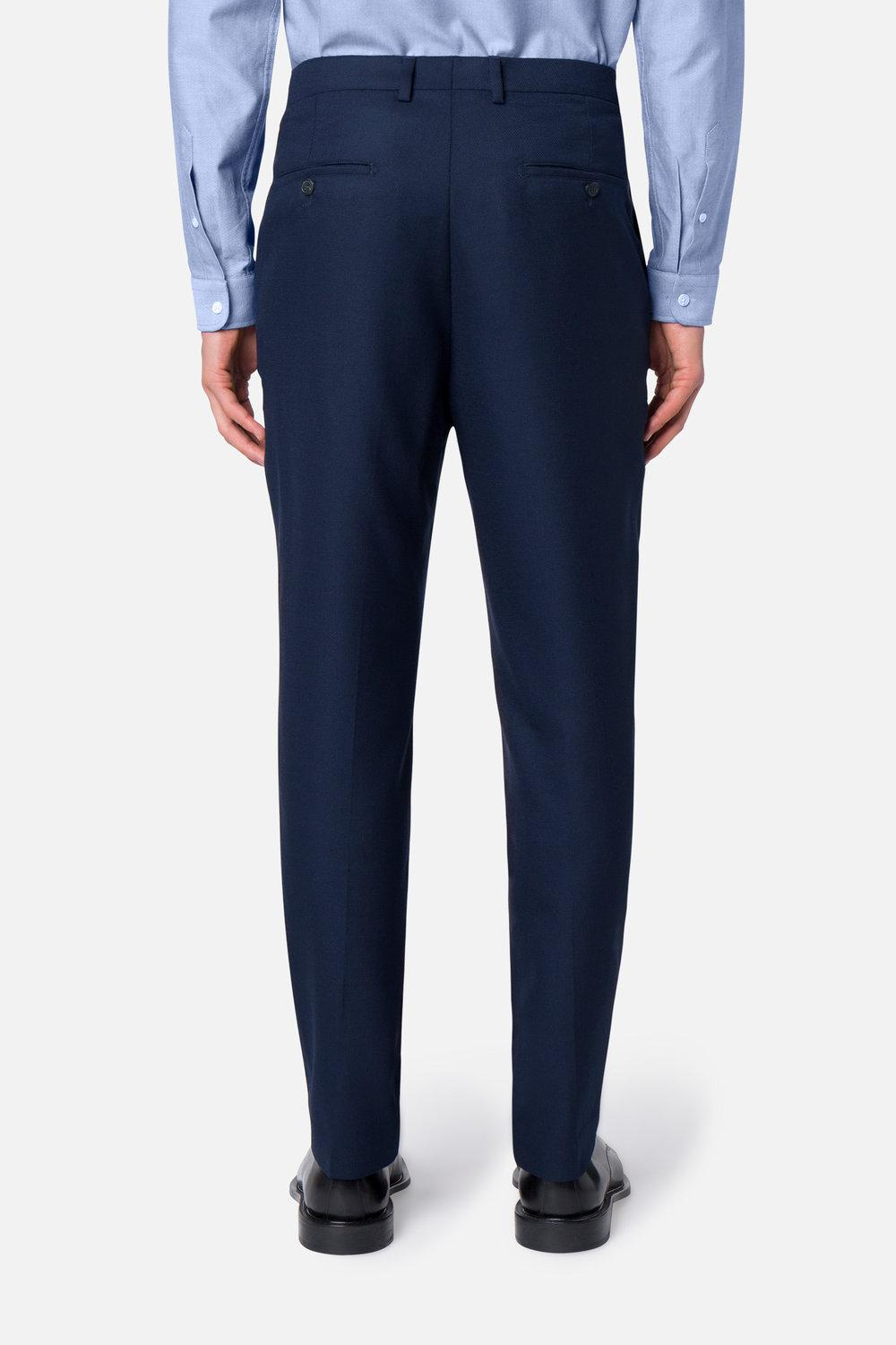 ami carrot-fit trousers in blue for men