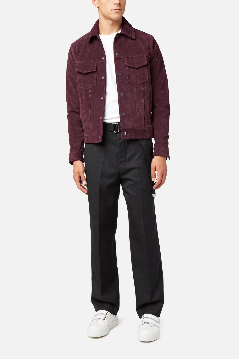 AMI Suede Jacket in Red for Men