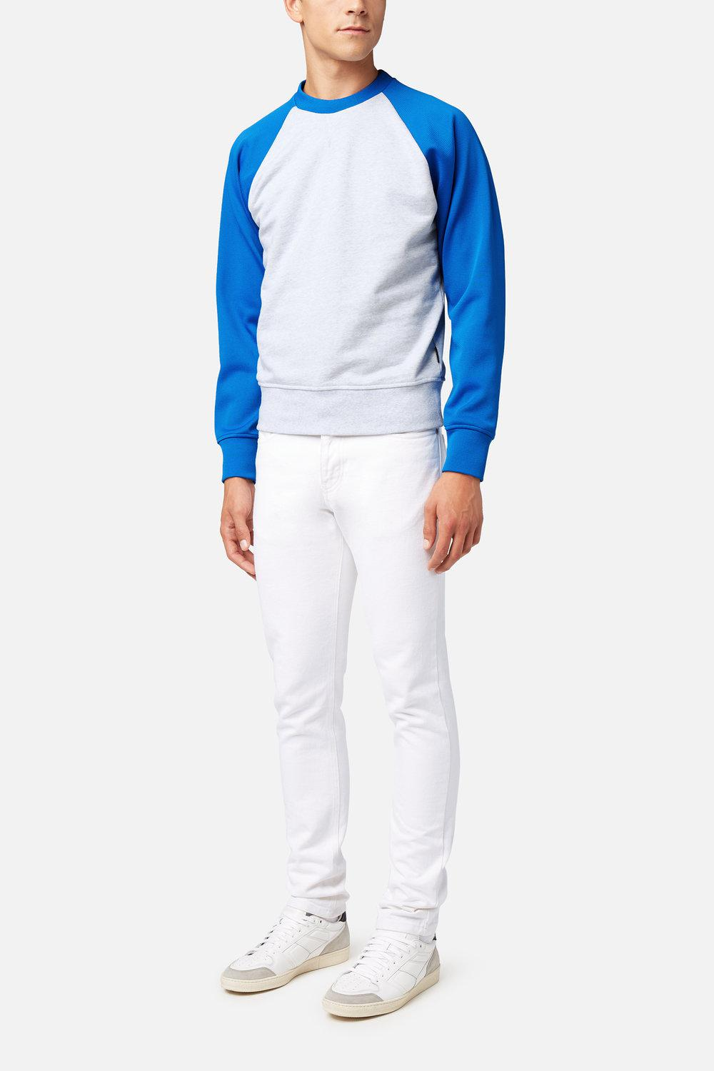 AMI Denim Ami Fit 5 Pockets Jeans in White for Men