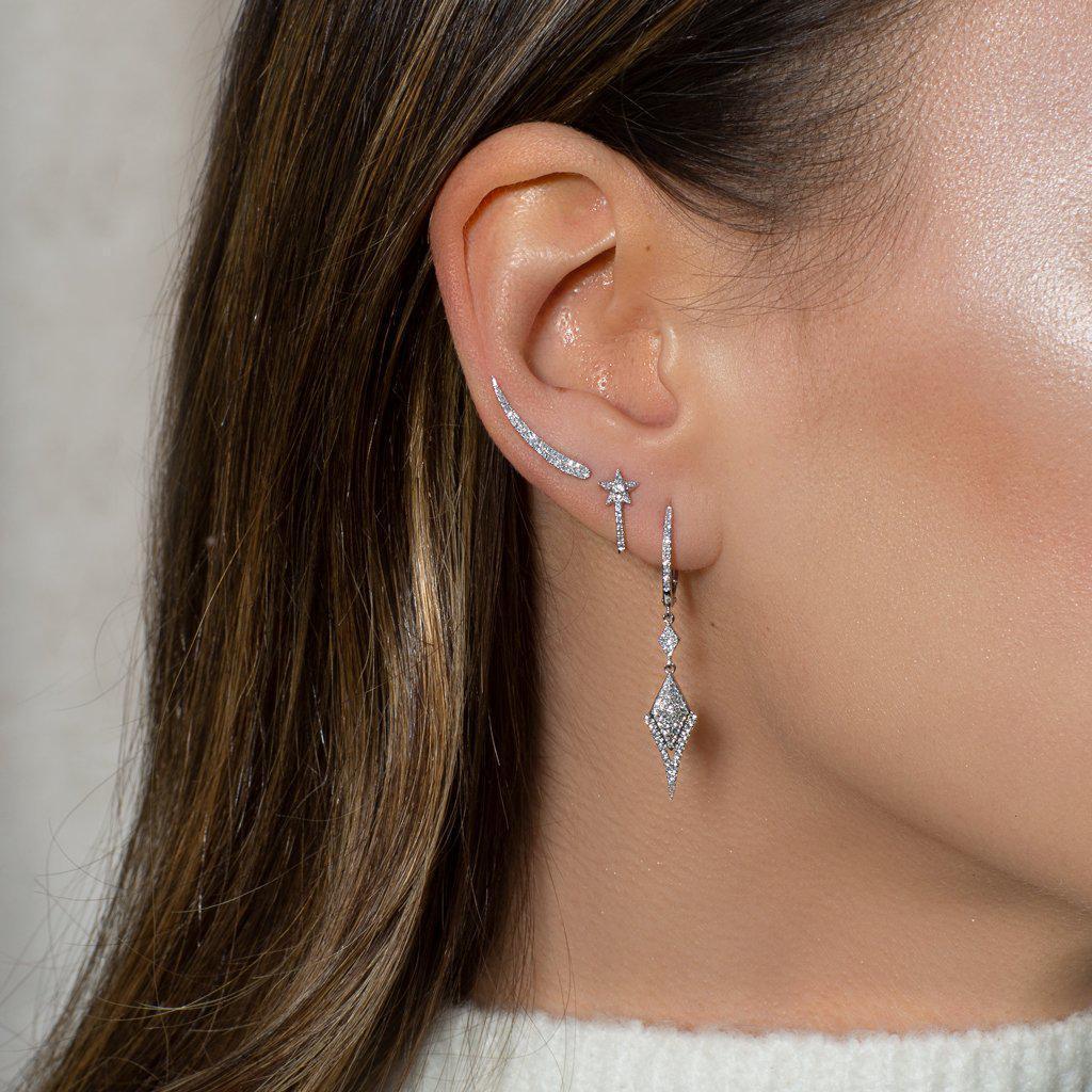 Anne Sisteron 14kt Rose Gold Diamond Karma Ear Climber in Metallic