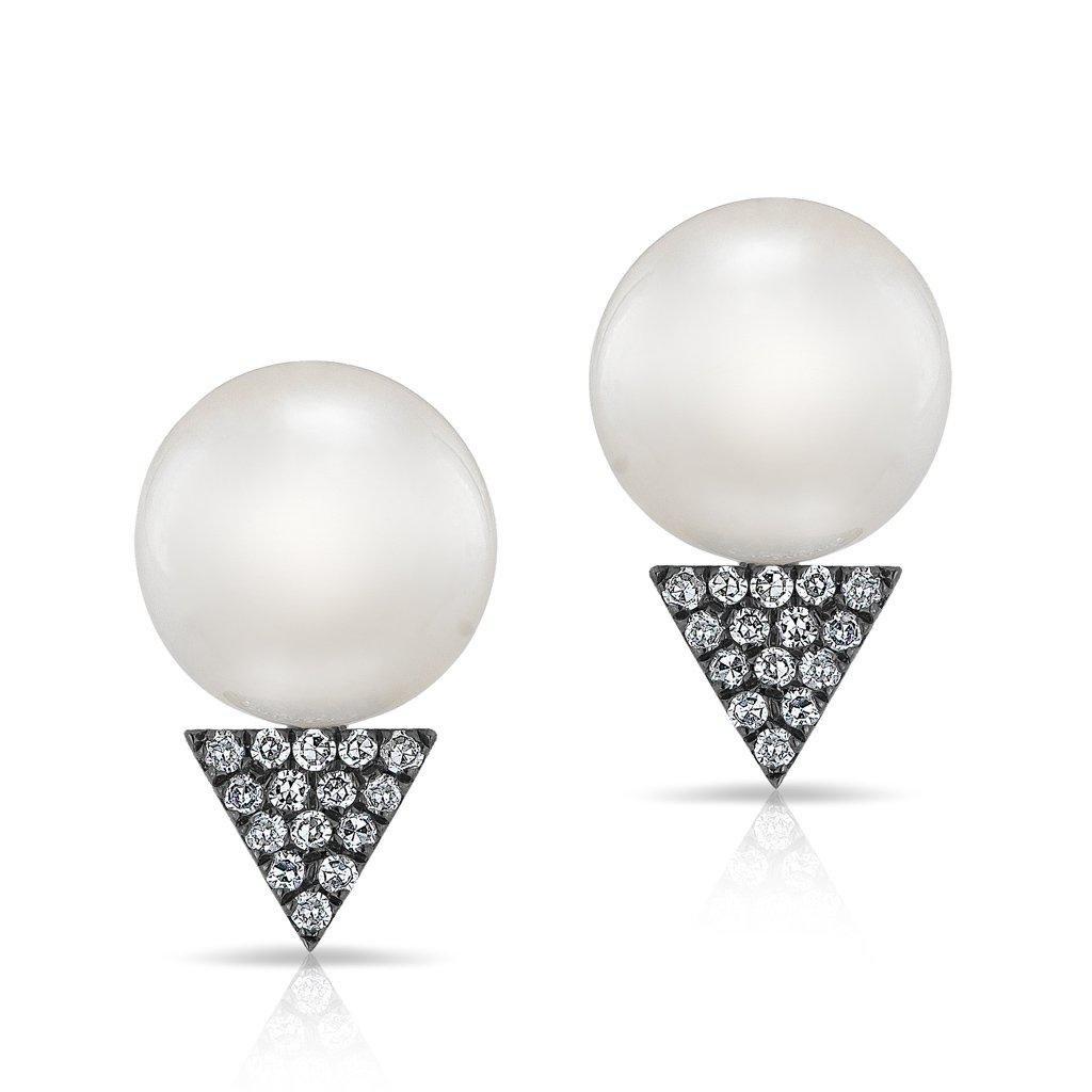Khai Khai Woman Oxidized 18-karat White Gold Diamond Earrings White Size Khai Khai ylPzHqN