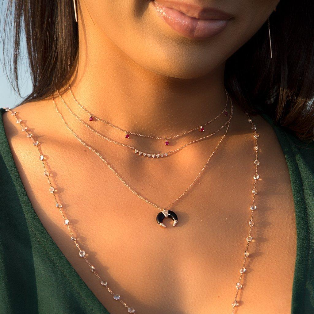 Anne Sisteron 14kt Rose Gold Ruby Shanley Necklace in Metallic
