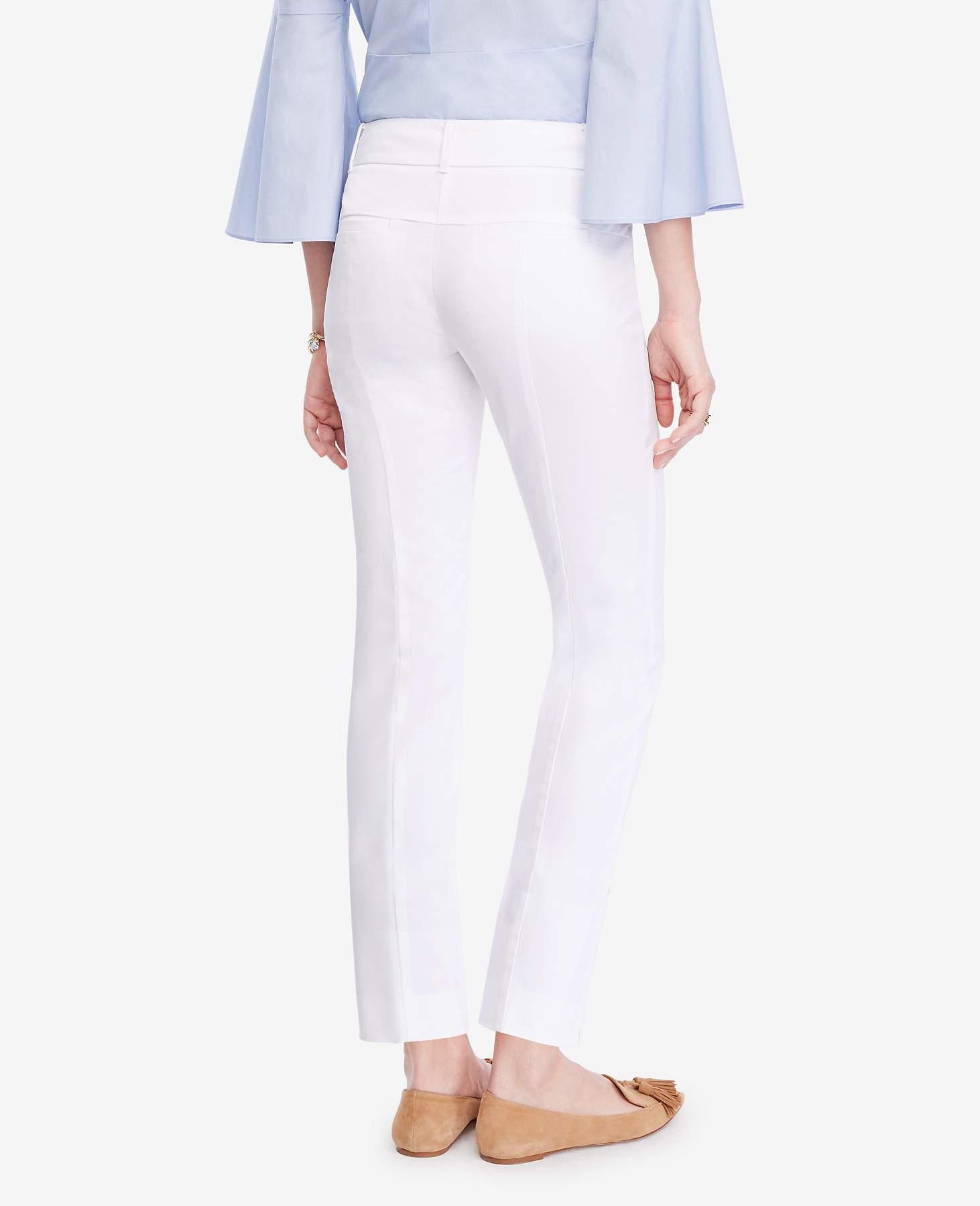 Ann Taylor Cotton The Tall Crop Pant - Devin Fit in White