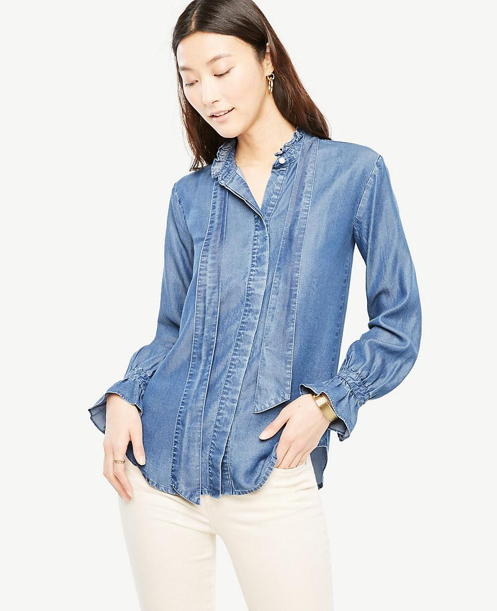 Chambray Shirt Women. The soft look and feel of chambray has made it an ever-popular choice for shirts and dresses. This fabric wears well, growing ever softer and more wearable over time. It's no wonder so many women love wearing—and wearing out—a favorite chambray shirt for women.