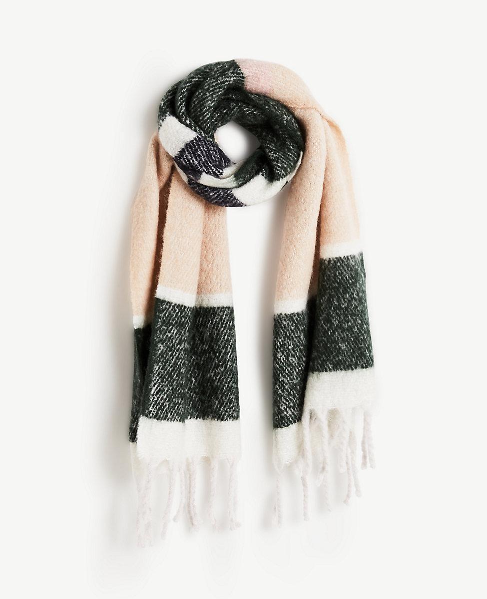 Ann Taylor Brushed Stripe Blanket Scarf Lyst