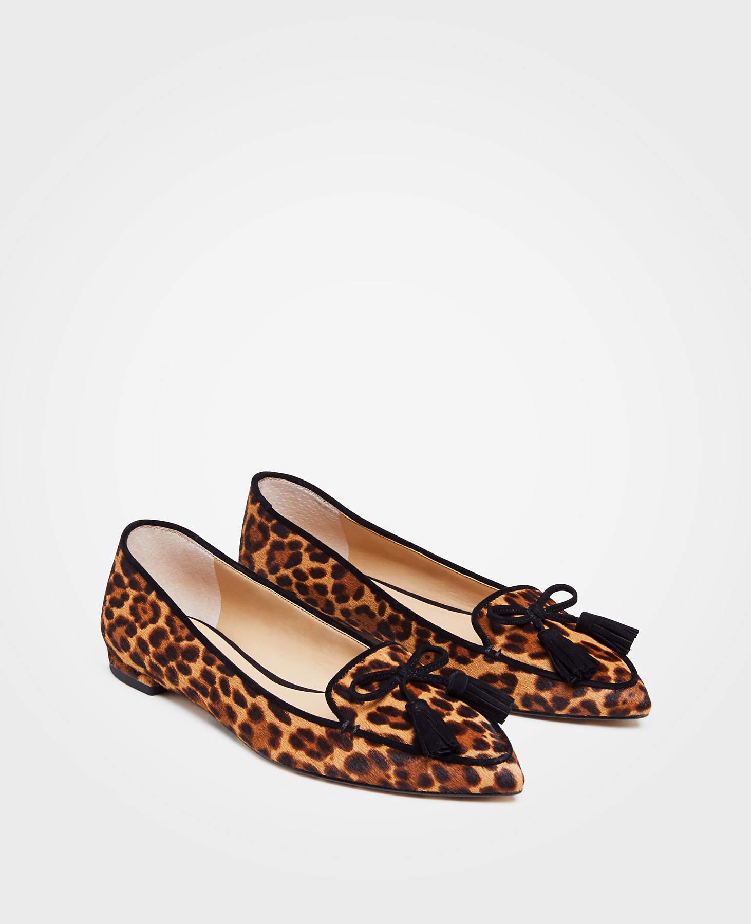 Ann Taylor Ada Leopard Print Haircalf