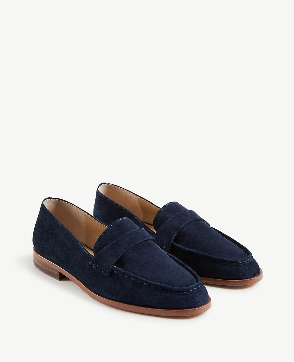 e5f39ff5f3c Lyst - Ann Taylor Audriana Suede Loafers in Blue for Men