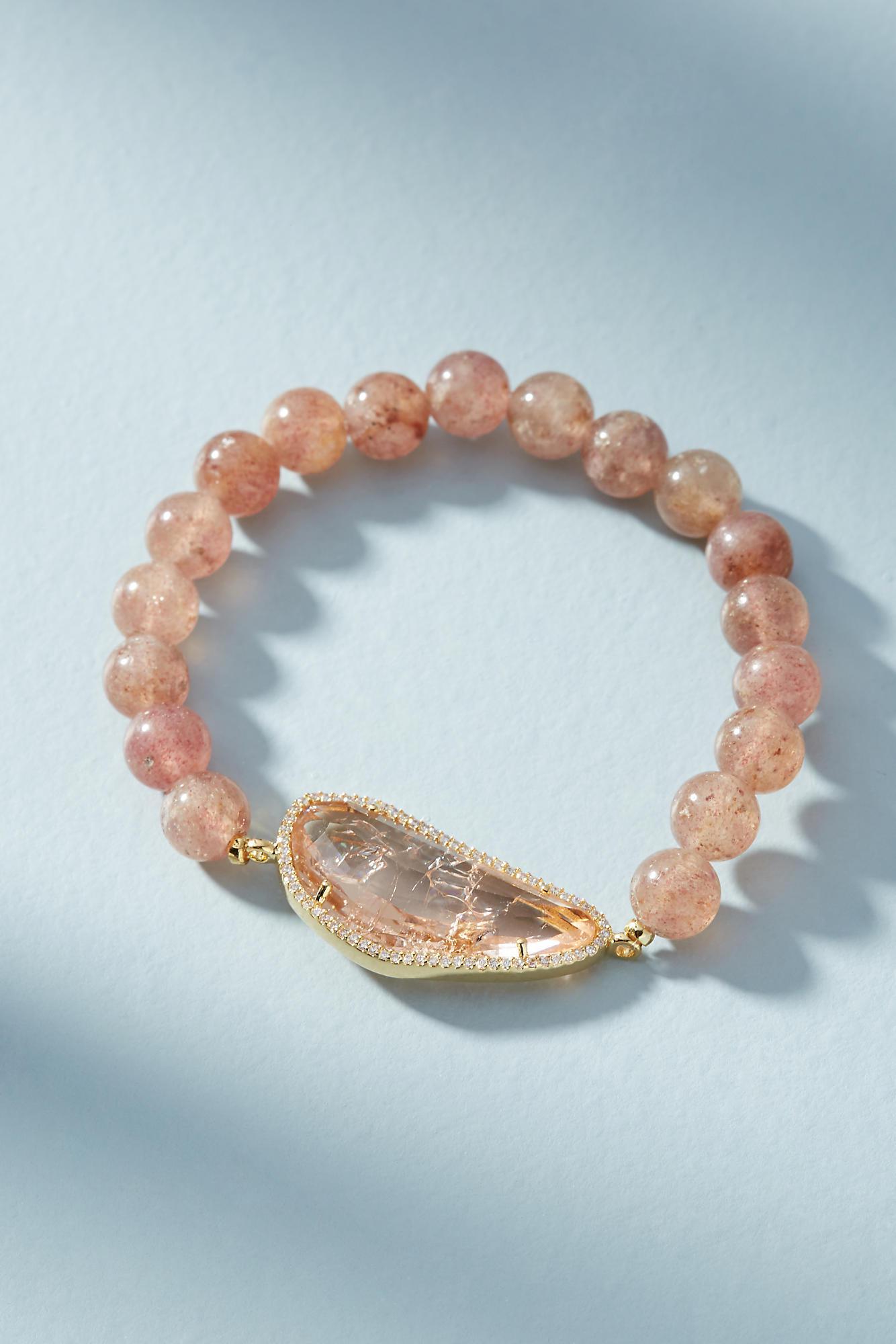 Anthropologie Bronwyn Stone Stretch Bracelet uns7ClUh0