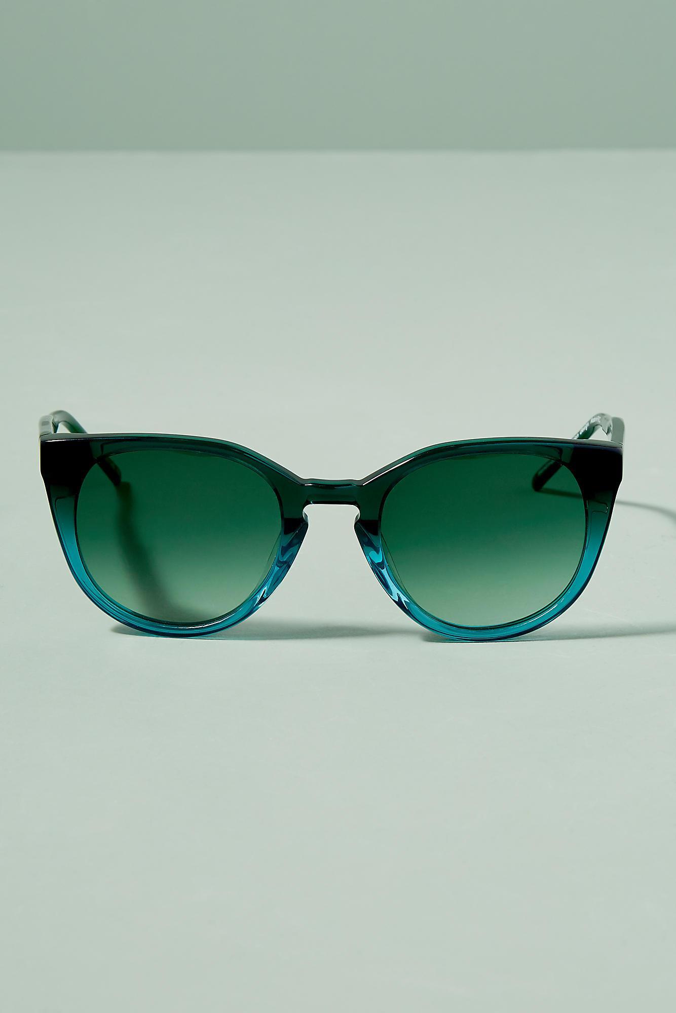 Anthropologie Kaibosh Gradient Cat-eye Sunglasses in Green