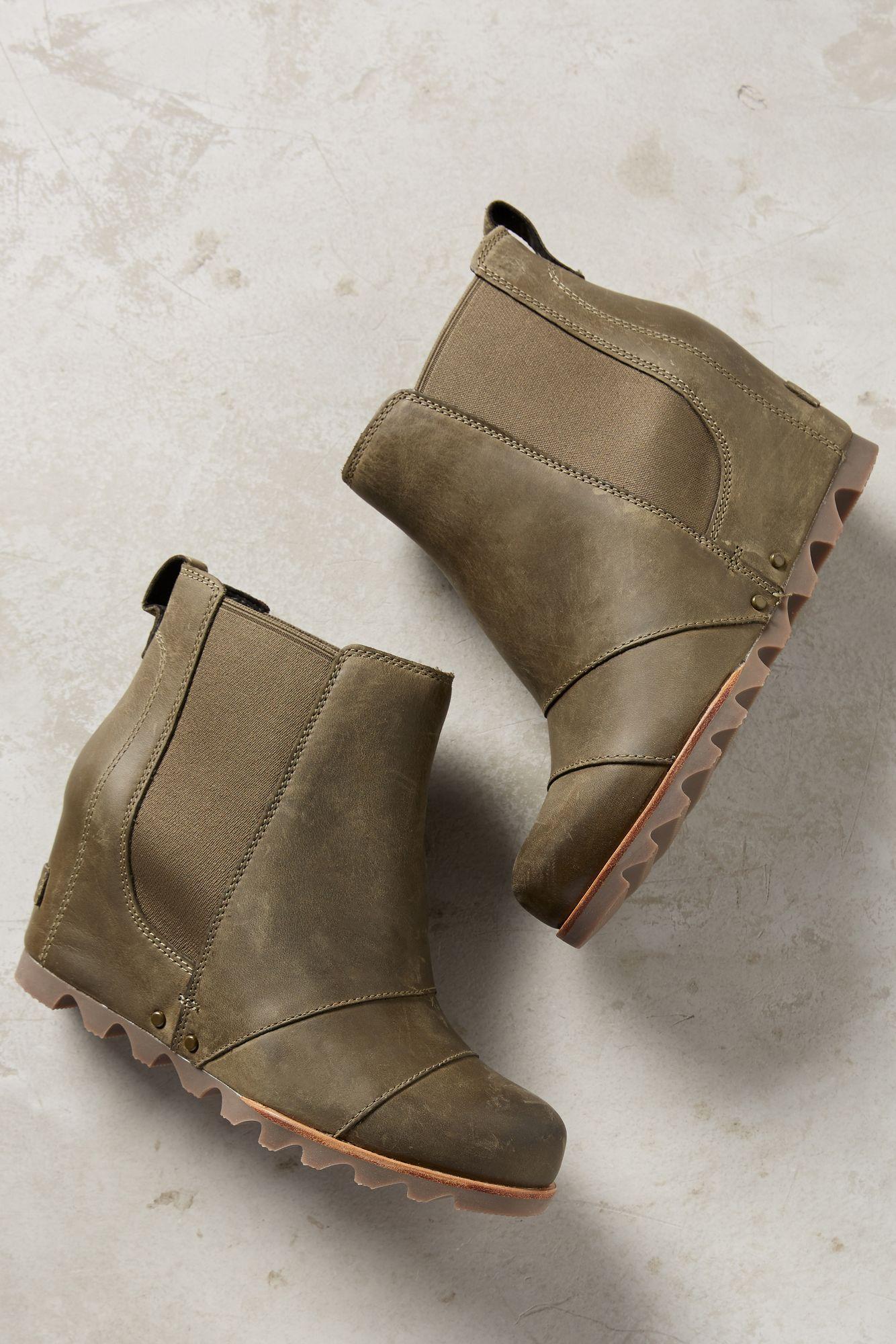 Sorel Lea Wedge Chelsea Boots Lyst