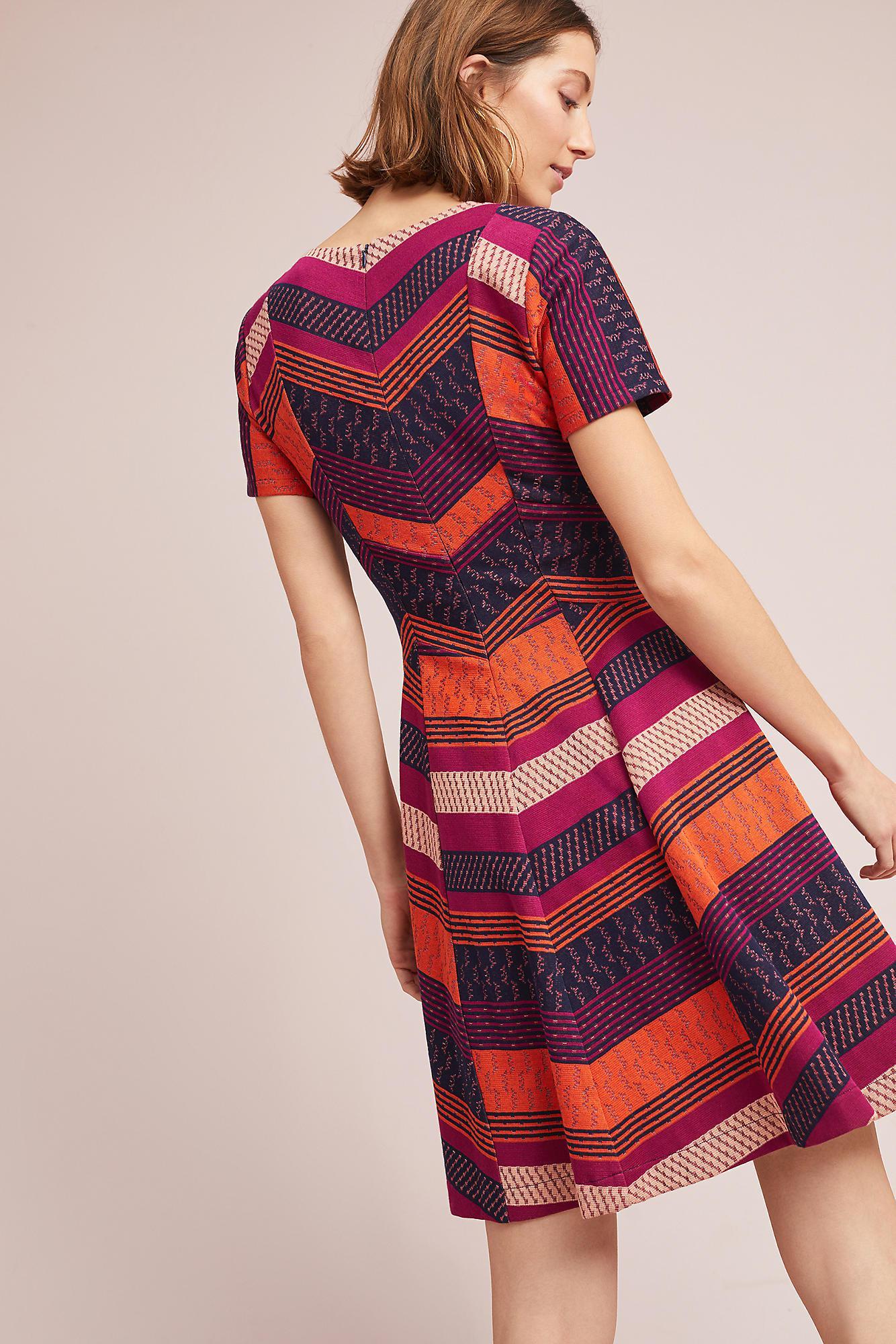 Hd In Paris Cotton Burbank Striped Dress Lyst