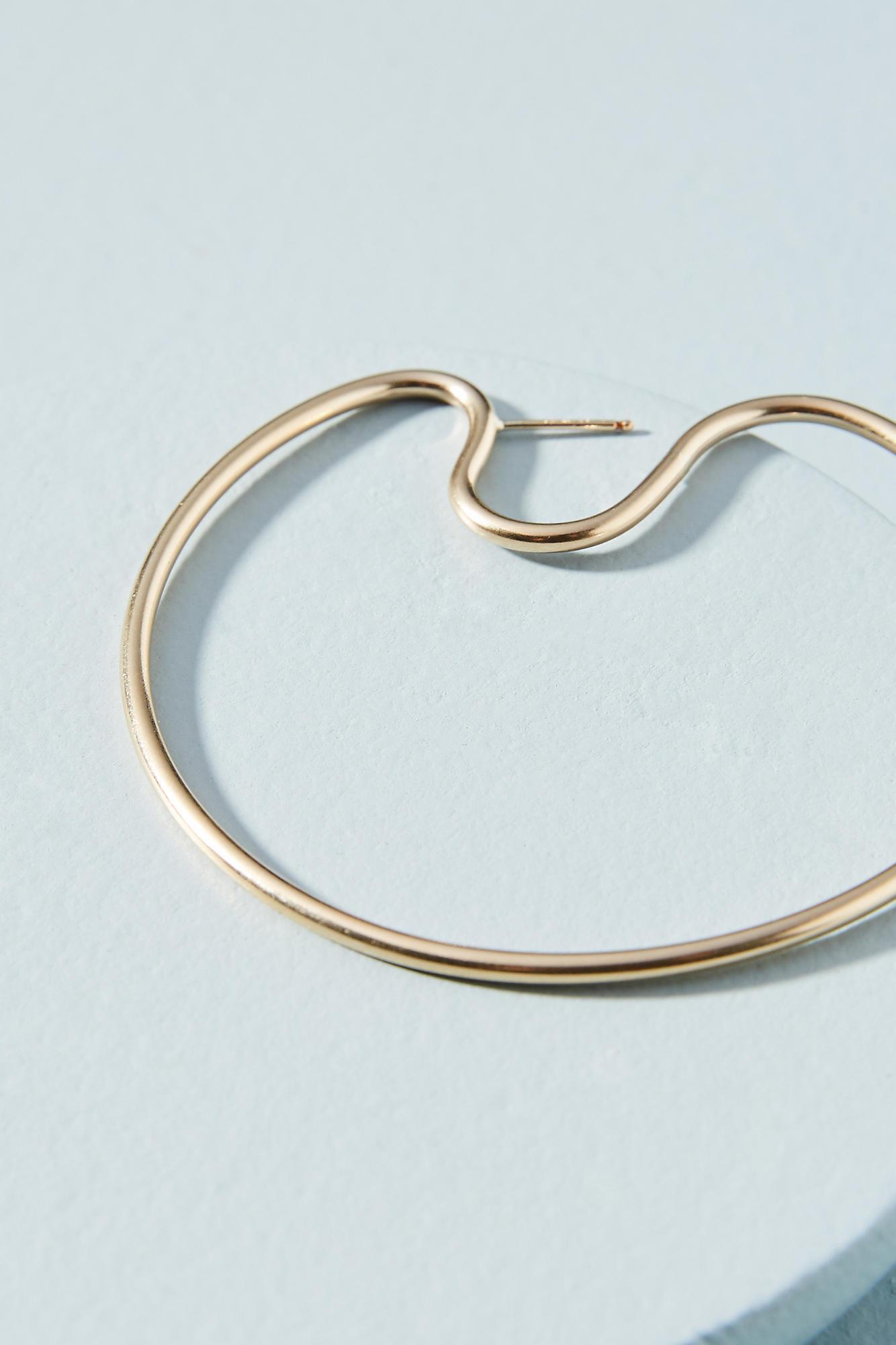 Anthropologie Petite Bubble Hoop Earrings YskbIL