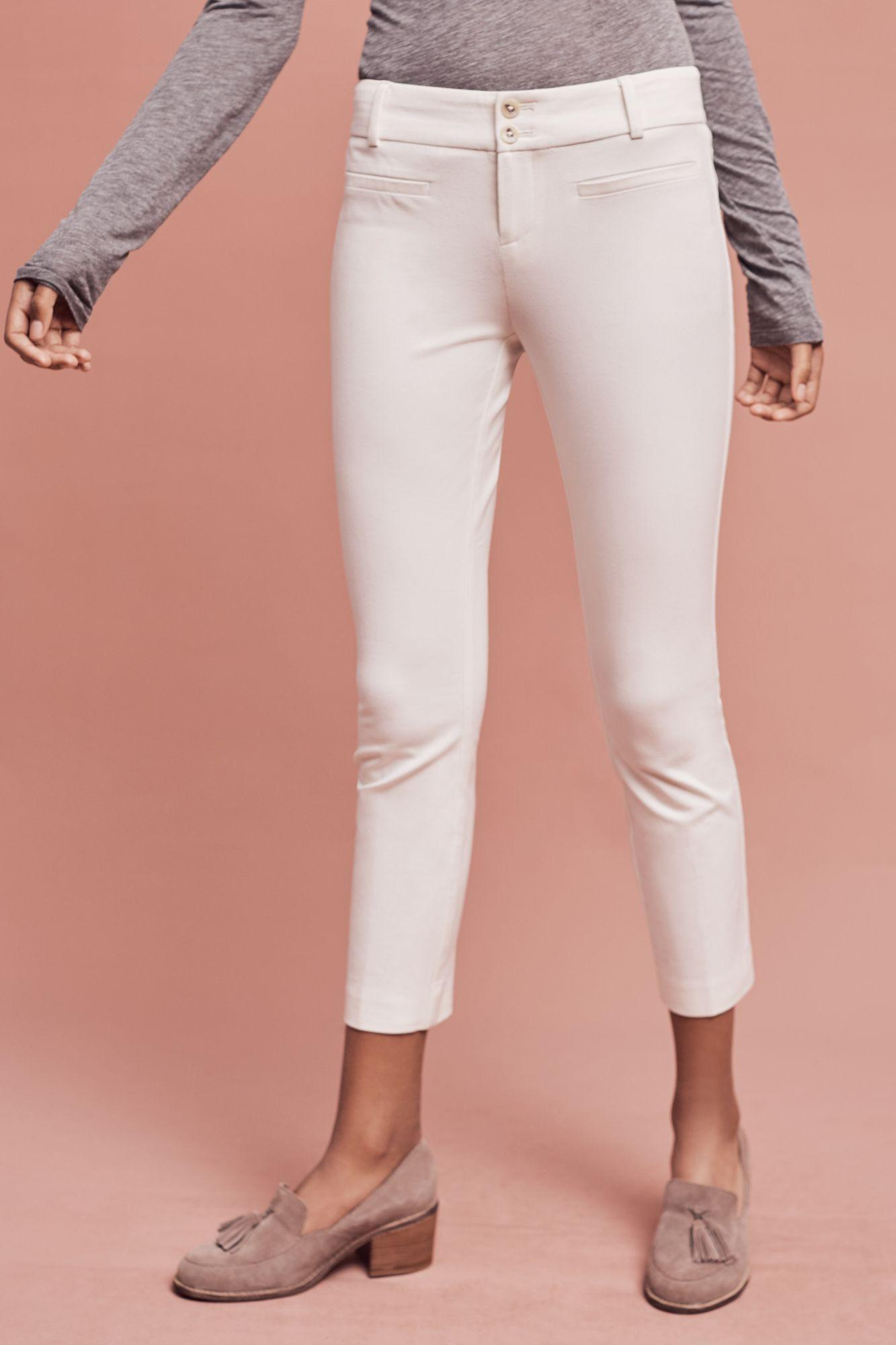 Lyst Anthropologie The Essential Slim Trouser In White
