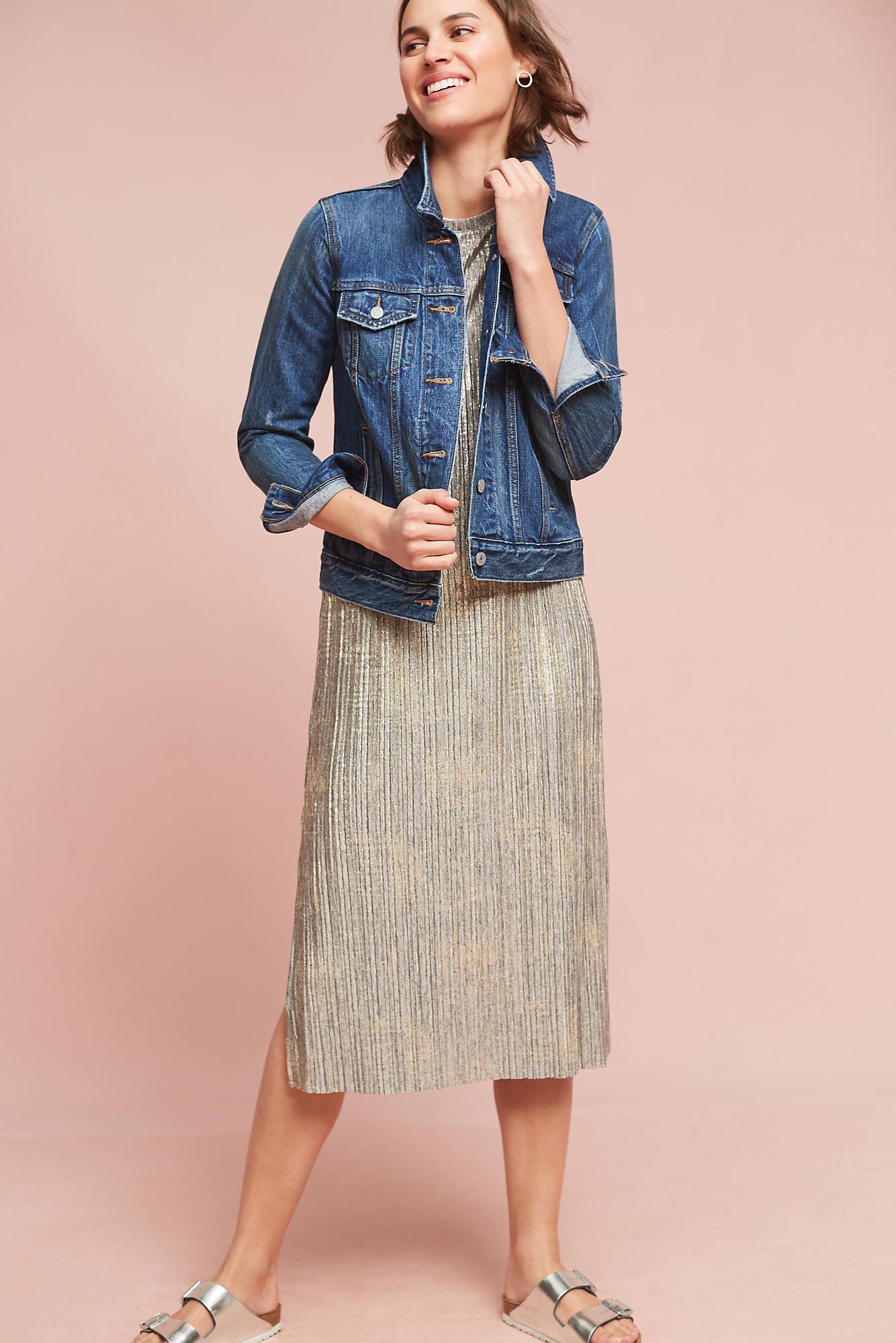 ebec1c941f51 Akemi + Kin Corrina Metallic Dress in Gray - Lyst