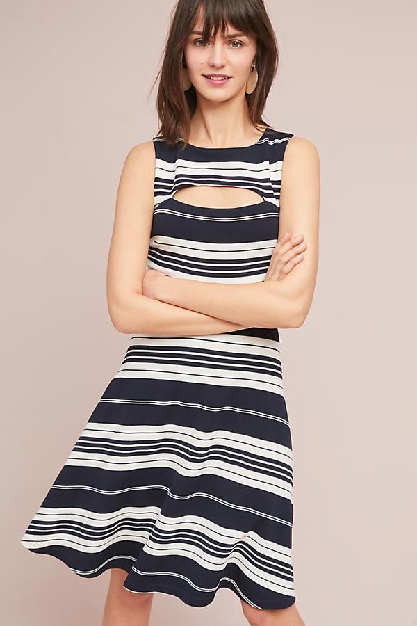 f2403345807a Maeve Riley Striped Knit Dress in Blue - Lyst
