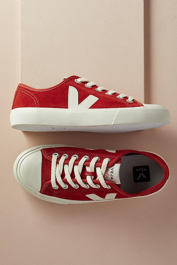 Veja Suede Wata Trainers in Red - Lyst
