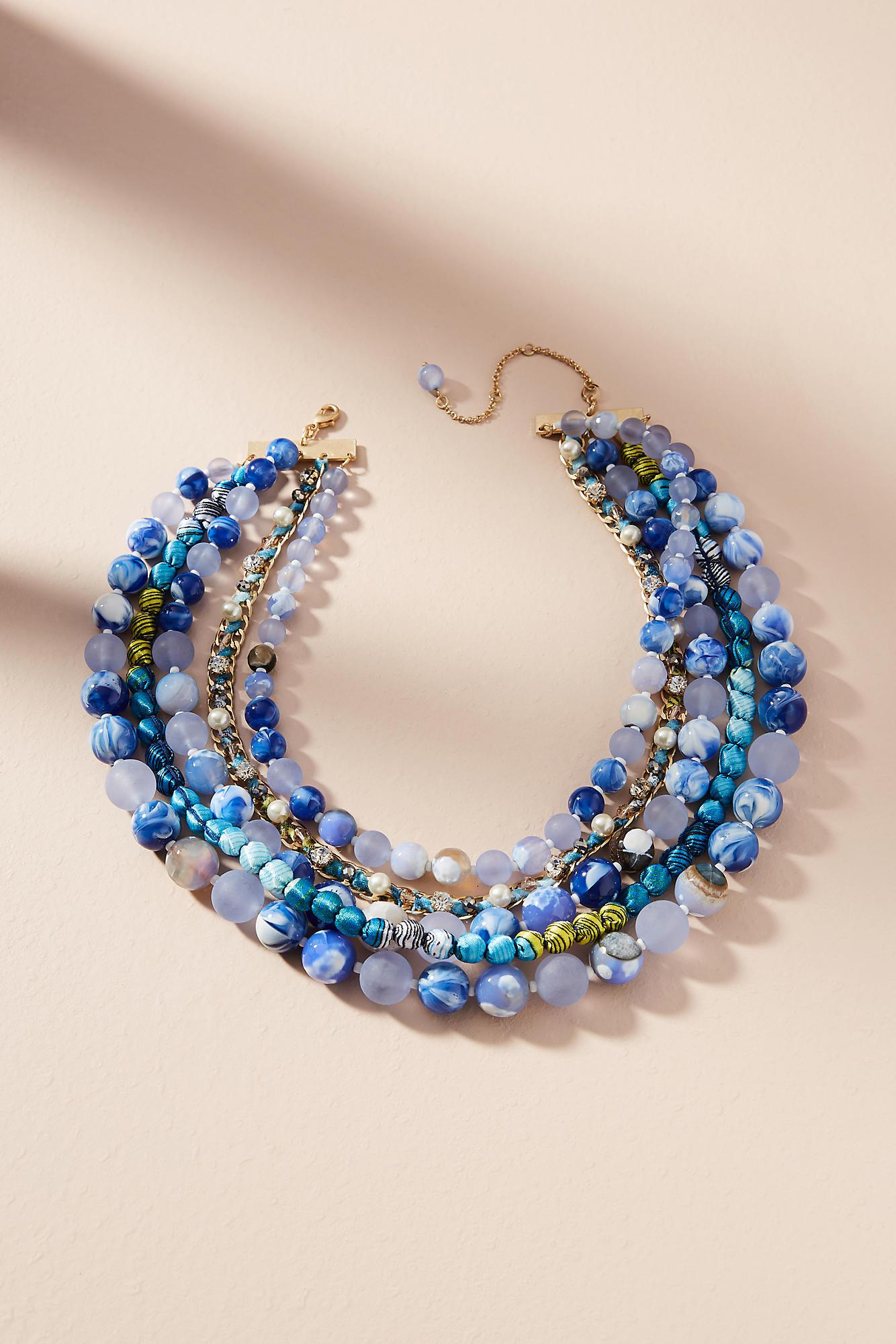 ab52ff04c15e4e Anthropologie Bernice Layered Necklace in Blue - Lyst