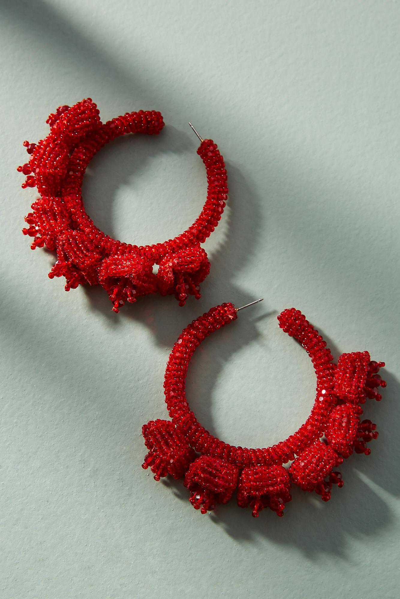 Sachin & Babi Grape Hoop Earrings Wobvat7