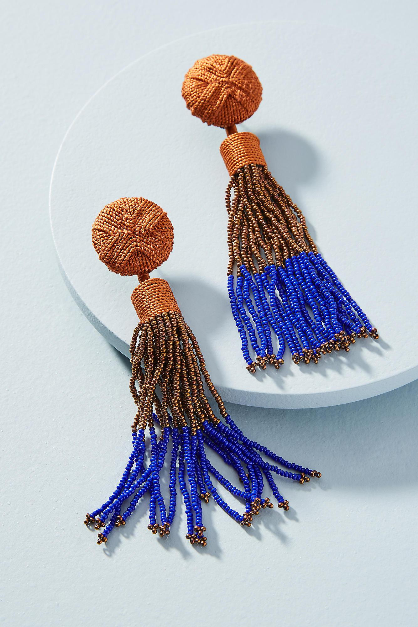 Mignonne Gavigan Madison Beaded Tassel Drop Earrings QsVcvf4