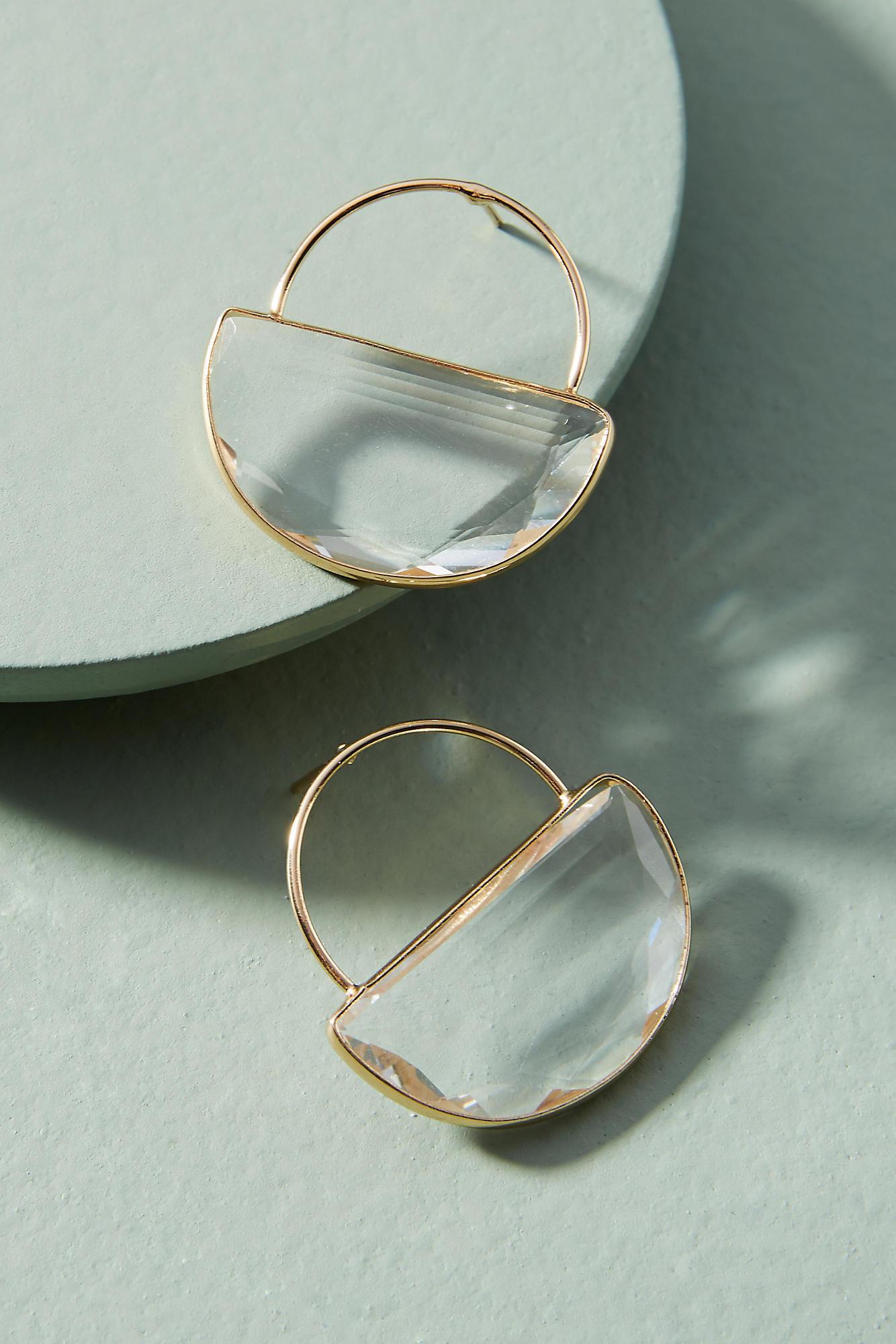 Anthropologie Solar Orbit Hooped Post Earrings 6jpBie1X6